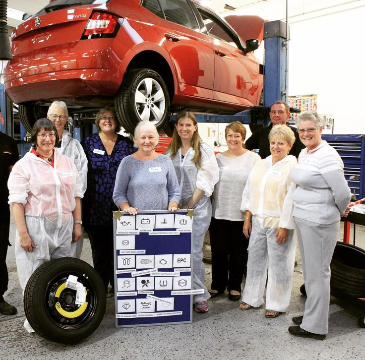 Celebrating #internationalwomensday2018 with a #tbt to one of our first Ladies Maintenance Evenings! Details on all our master classes (not only for #women) can be found at www.horshamskoda.co.uk #horsham #skodagram #skoda #fabia #mechanics #underthebonnet #dashboard #ladiesnight #masterclass #independantwoman #workshop #skodafan #toolbox #skodafabia #internationalwomensday