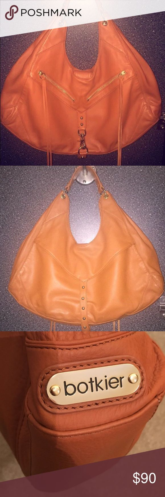 Botiker Large Leather shoulder slouch bag Excellent Condition adorn with tassels and gold buckle! Retails 475 Botkier Bags