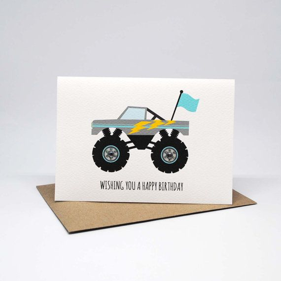 Birthday Card Boy - Monster Truck - HBC227 / Wishing you a Happy Birthday for the Birthday Boy