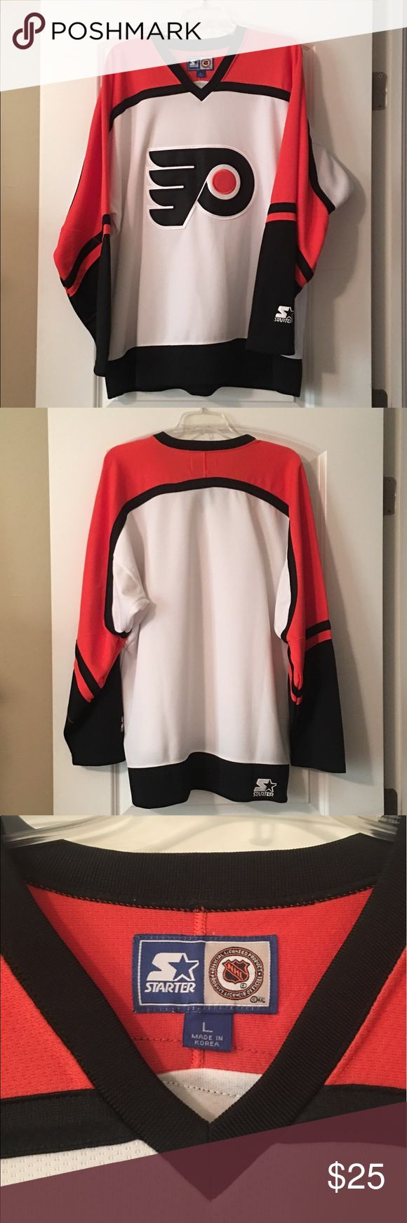 """Official NHL Philadelphia Flyers Jersey Official NHL Flyers jersey, excellent condition, only worn a few times. 26""""x31"""" Starter Other"""
