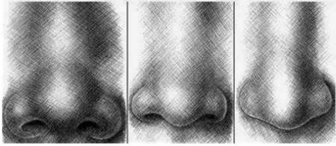 paso 3 para dibujar una nariz de hombre