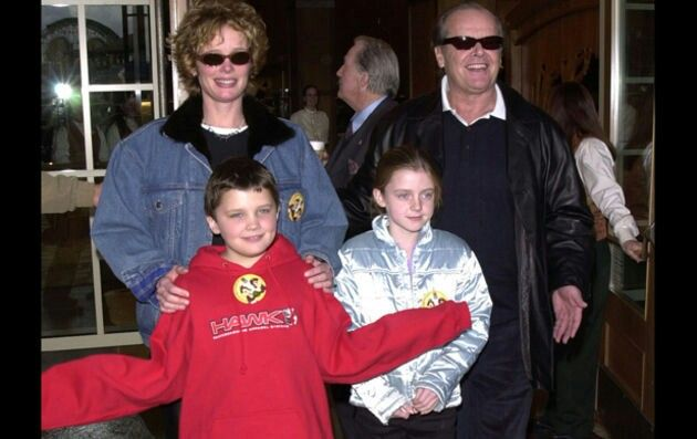Jack Nicholson, Rebecca Broussard, and their kids
