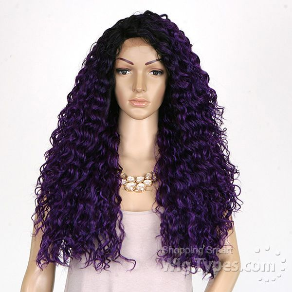 Freetress Equal Synthetic Hair Lace Deep Invisible L Part Lace Front Wig - KITRON - WigTypes.com