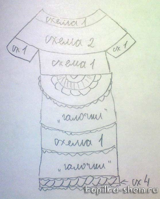 Платье Богема Ванессы Монторо. Схемы вязания крючком