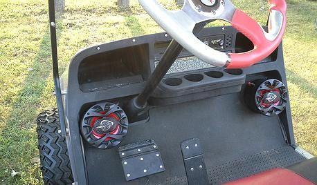 Golf cart speakers Cub car EZ GO Yamaha Stereo by ThunderBuckets