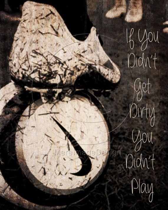 "Soccer ""If You Didn't Get Dirty"" Motivational Poster Original Design #soccer #motivational #sports"
