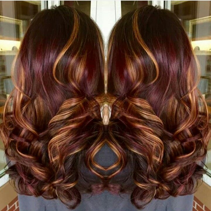 Best 25 burgundy hair highlights ideas on pinterest hair color really cute burgundy hair with caramel highlights pmusecretfo Choice Image