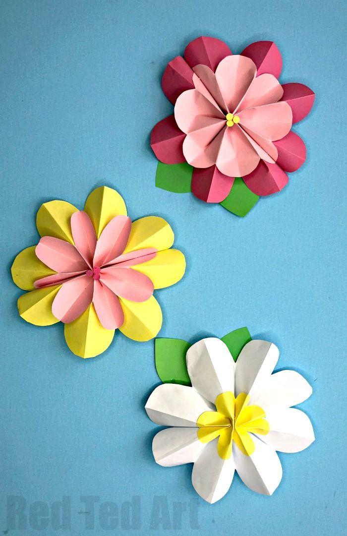 easy 3d paper flowers for spring