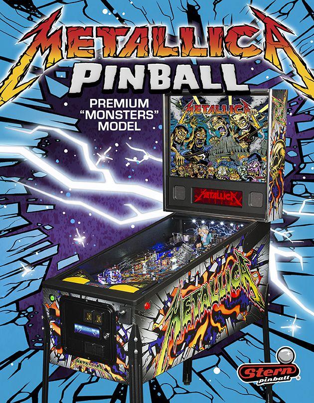 Metallica Premium Monsters Model   STERN Pinball