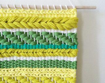 Tejido del colgante de pared | Tejido amarillo