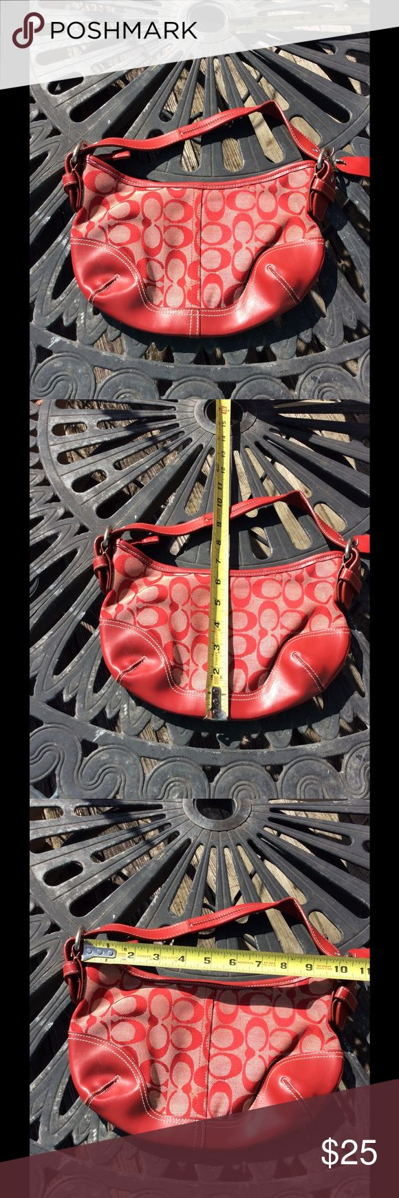 Coach hand bag Red color ....clean from non smoking house Coach Bags Mini Bags