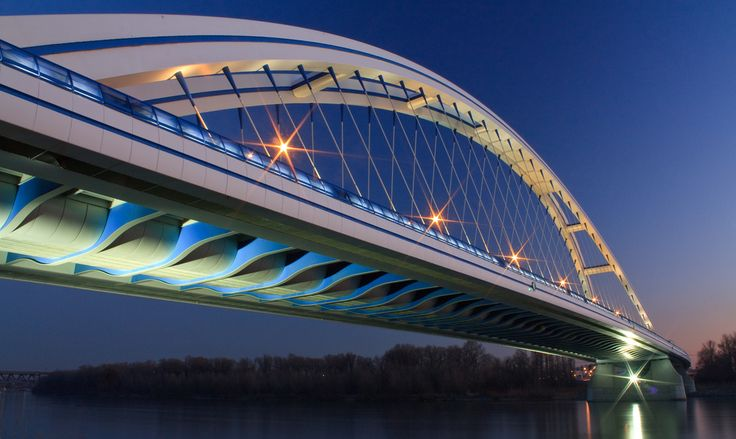 Apollo bridge in Bratislava, Slovakia http://timeforslovakia.com/best-of-bratislava