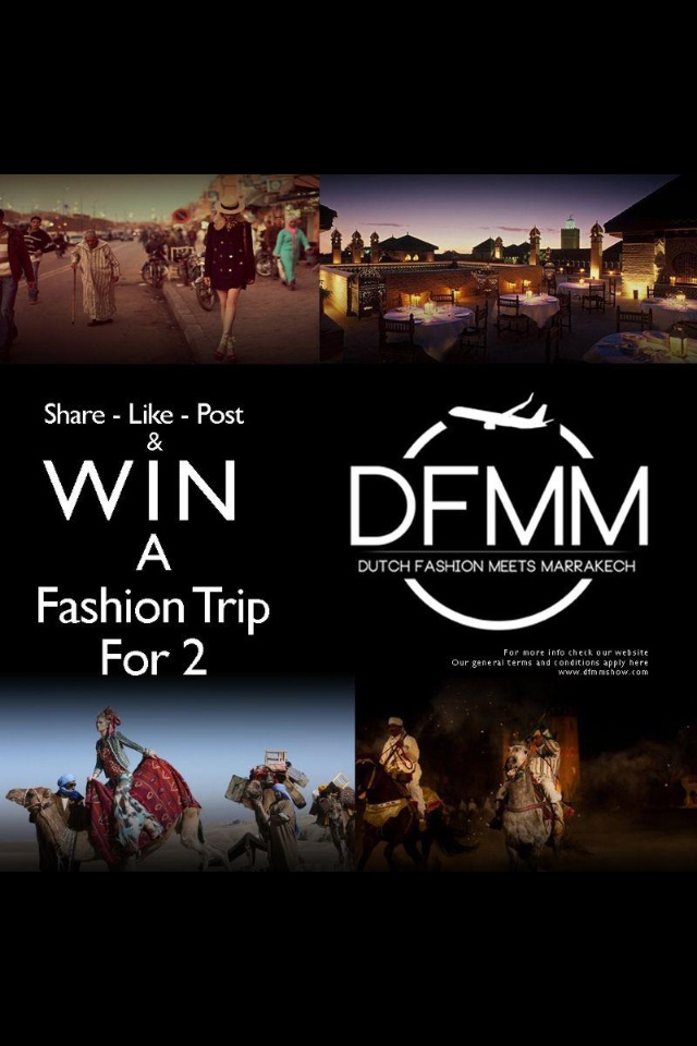Share like and win!  Follow us and win a VIP weekend to Marrakech