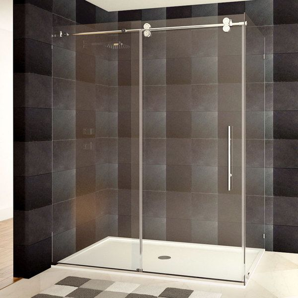 LessCare 48 or 60 x 79 x 36-inch Frameless Chrome/ Brushed Nickel Finish Shower Enclosures  | Overstock.com Shopping - The Best Deals on Shower Doors
