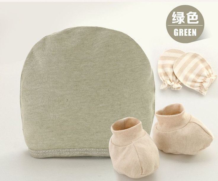 1 set Hat Socks Gloves Organic Cotton Newborn Baby Boy Girl 3-piece Of Protection infant Cap Hats Anti-grab Gloves Mittens Socks