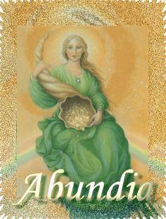 Abundia (Romano; teutónico). También conocida como Abundantia, Habone, Fulla. Abundantia, la hermosa diosa del éxito, la prosperidad, la abundancia y la buena fortuna, también está considerada una …