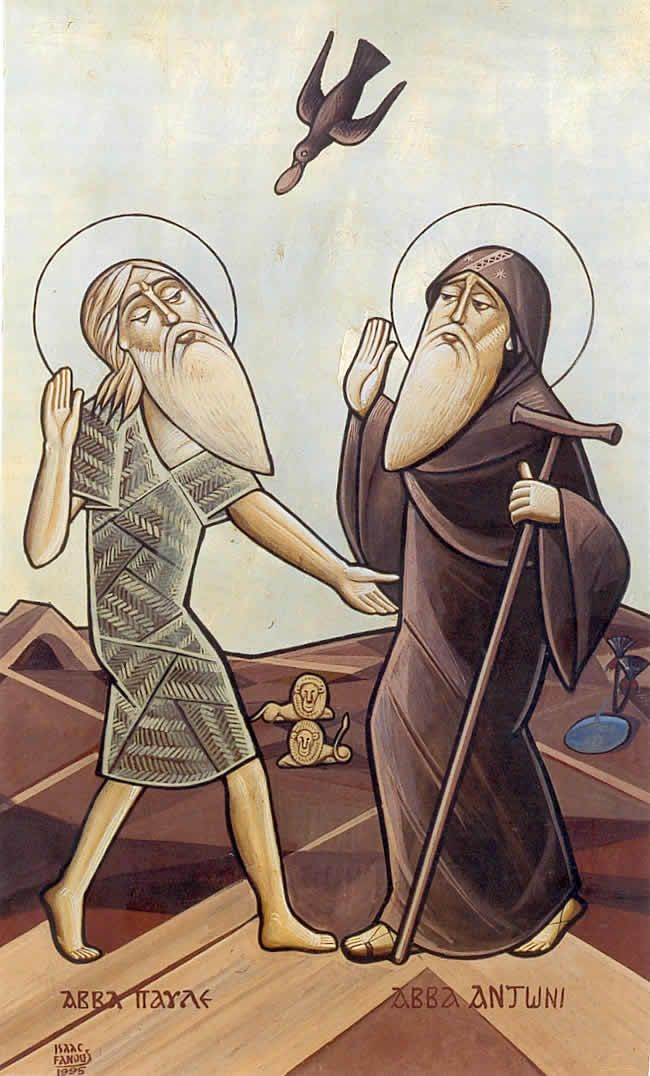 A760   Isaac Fanous   St Anthony and St Paul of Thebes   Icon   ?