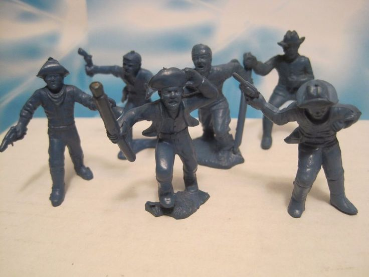 MARX ALAMO FORT APACHE PLAYSET CAVALRY DEFENDERS 45MM VINYL PLASTIC TOY SOLDIER #MARX