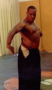 Dr. Moses Powell...If not for him African Americans Would not be able to practice the martial arts for a very long time, he was the first black man to teach US special forces and also one of the first to represent the martial arts in the United Nations and did countless selfless things for people in martial arts. RIP Sensei Powell.