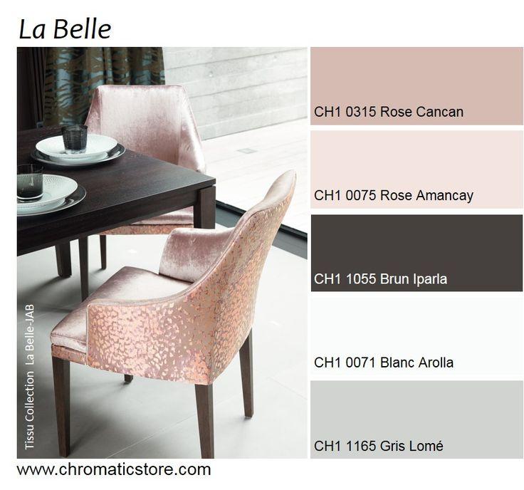 Luminosité et féminité pour cette association de teintes délicates rehaussées du brun teck. www.chromaticstore.com #deco #rose #inspiration