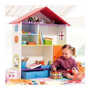 ESTANTERÍA CON FORMA DE CASITA : Me encanta esta estantería con forma de casita de Imaginarium, sus dimensiones son 90 x 103 x 28 y tiene un precio de 99,90 € Una bonita pieza que motivará