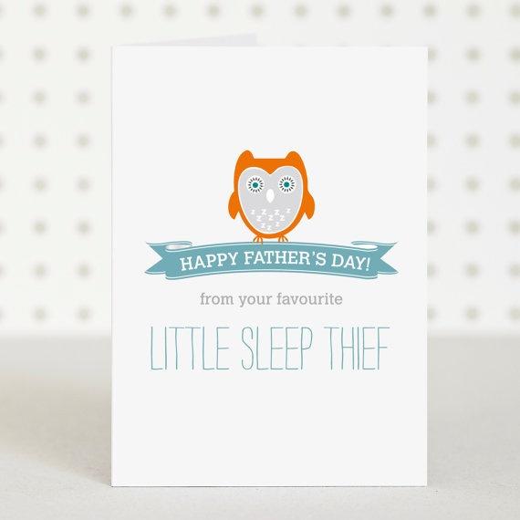 Sleep Thief  - Fathers  Day Card