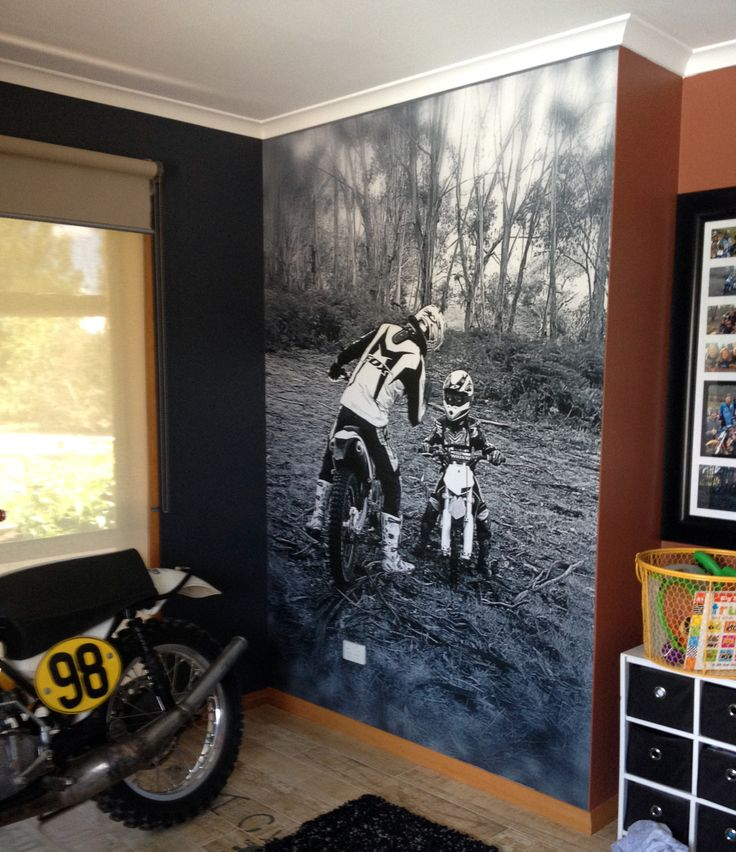 Chontelle, VIC, recently installed this wall mural of her two favourite boys! We love it!