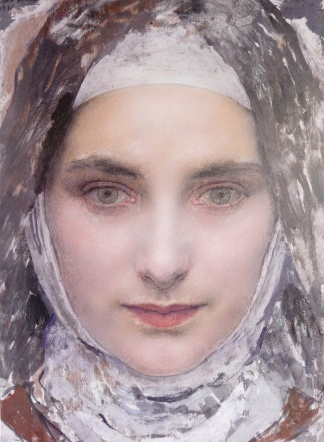 St Thérèse de Lisieux, 1931 (detail)  Edgar Maxence (French 1871 - 1954)  A word or a smile is often enough to put fresh life in a despondent soul. -Thérèse de Lisieux