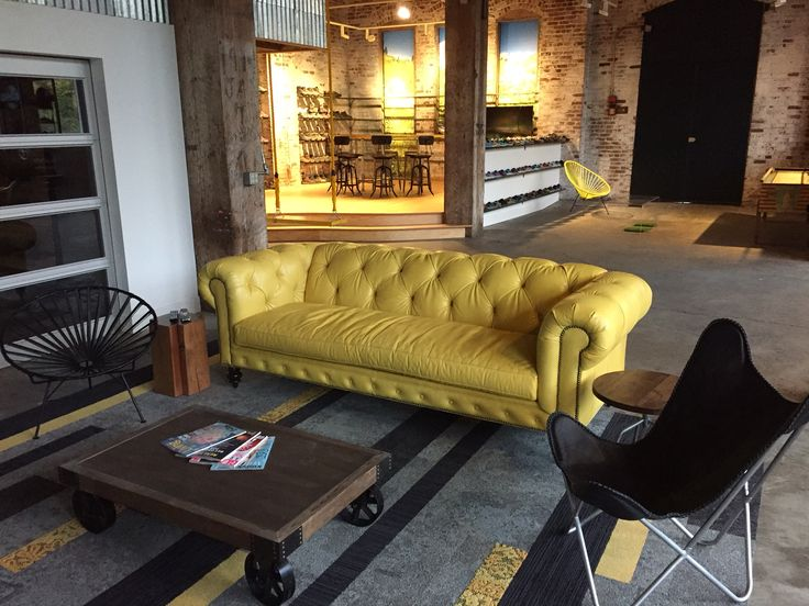 Lovely Gorgeous Soho Chesterfield Sofa In New @Keen Footwear Showroom In Seattle |  Moore U0026 Giles Mont Blanc   Daffodil Leather | COCOCOHome | Pinterest ...