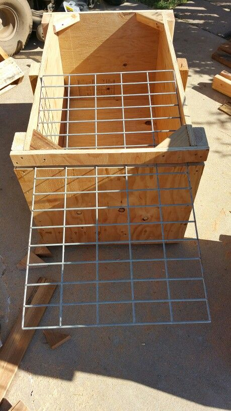 Solid slow feeder. For horses.  Hand made by me.