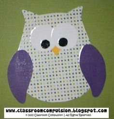 Free downloadable template. An adorable owl template to create your own owls for bulletin boards, decor, or classroom projects.