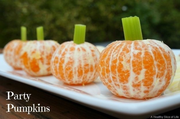 Party pumpkins | Community Post: 26 Healthy Halloween Snack Hacks