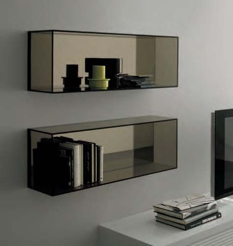Daytona Glass Wall Unit by Sangiacomo, Italy.	 Manufactured By San Giacomo.