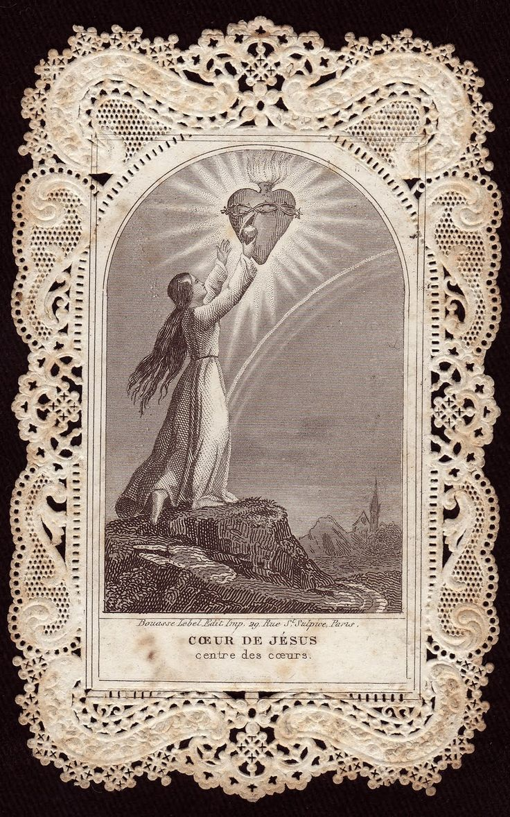 Sacred Heart of Jesus holy card