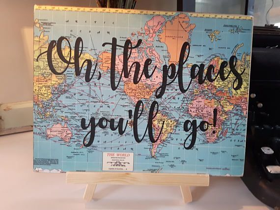 Oh the places you'll go to Graduation Decor Adventure Party Adventure Baby Shower Travel and Adventure Kid's Room Decor Seuss quote - #aben ...