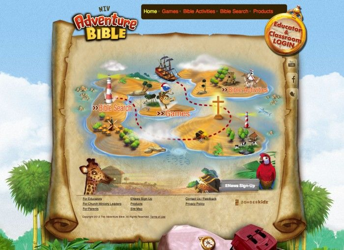 Adventure Bible Website--safe, educational, and fun for kids!