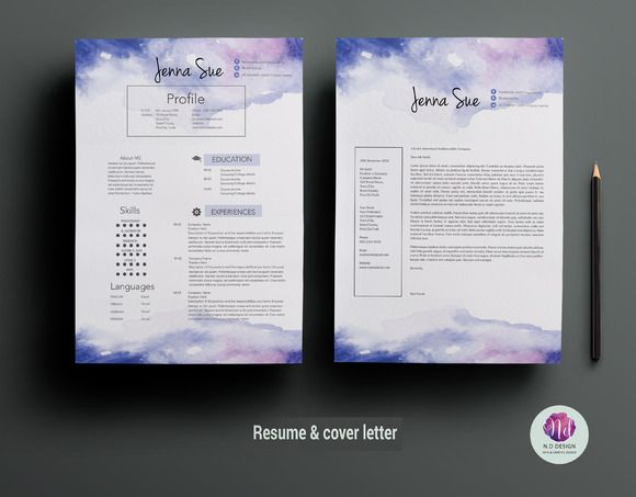 Creative CV template by Chic templates on Creative Market