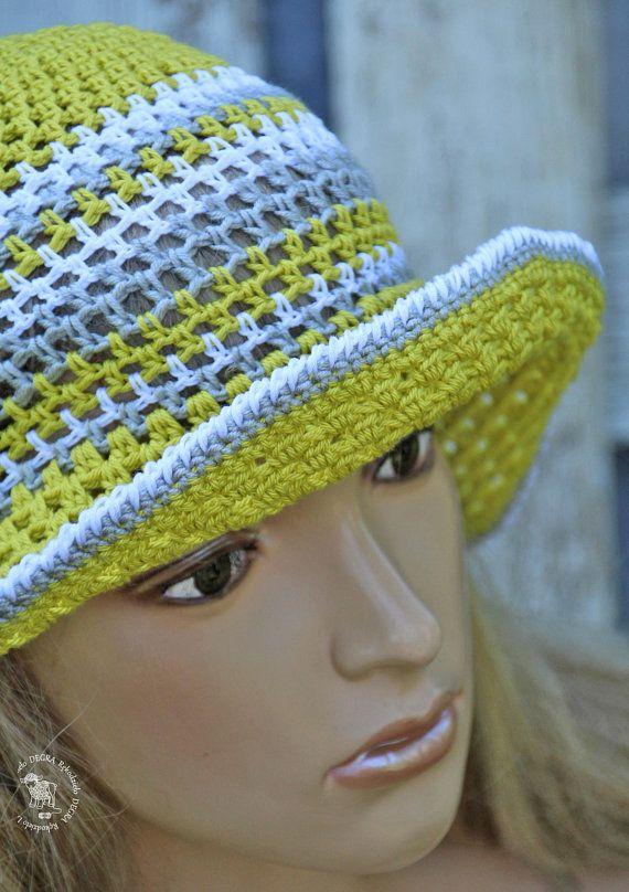 037e2dc9546 Summer Hat Pistachio sun Hat pastel cotton Cloche floppy