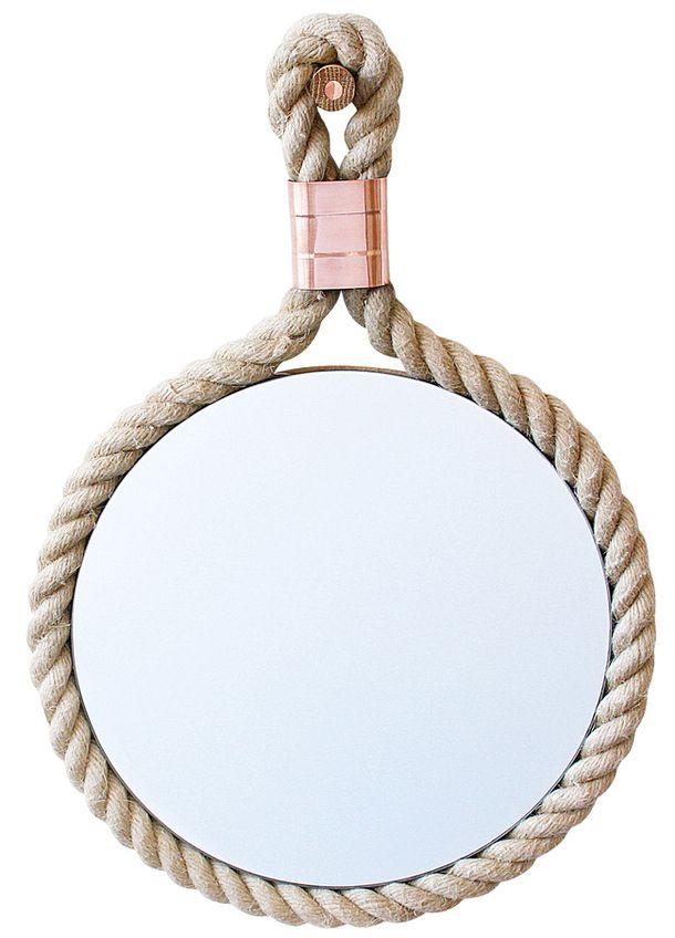 Тенденции дизайна: Веревки и канаты. еркало, CR, дизайнер Майлс Декстер, медь, веревка, M-Dex Design