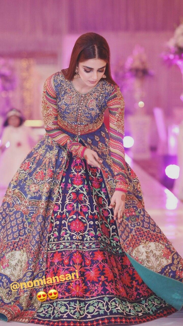 Colourful lengha perfect for sangeet