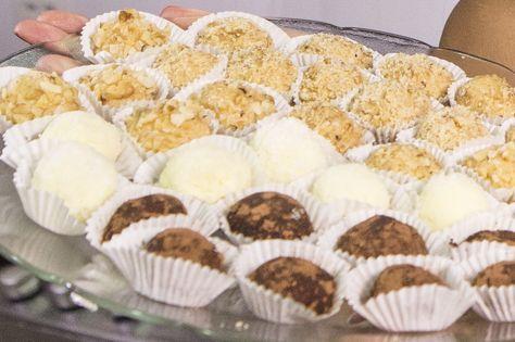 Brigadeiro branco 'low carb'   Doces e sobremesas > Receitas de Brigadeiro   É de casa - Receitas Gshow