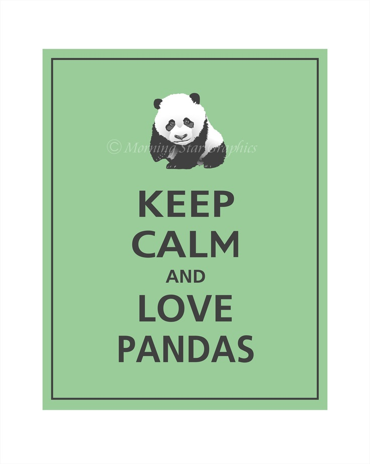 Keep Calm and LOVE PANDAS Print 8x10 (Colors featured ...