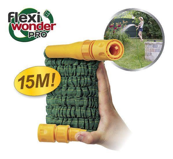 Bekend van TV: Flexi Wonder Pro - Flexible Tuinslang 15m #tuinslang #flexiwonderpro #flexiwonder #flexibeletuinslang #bekendvantv