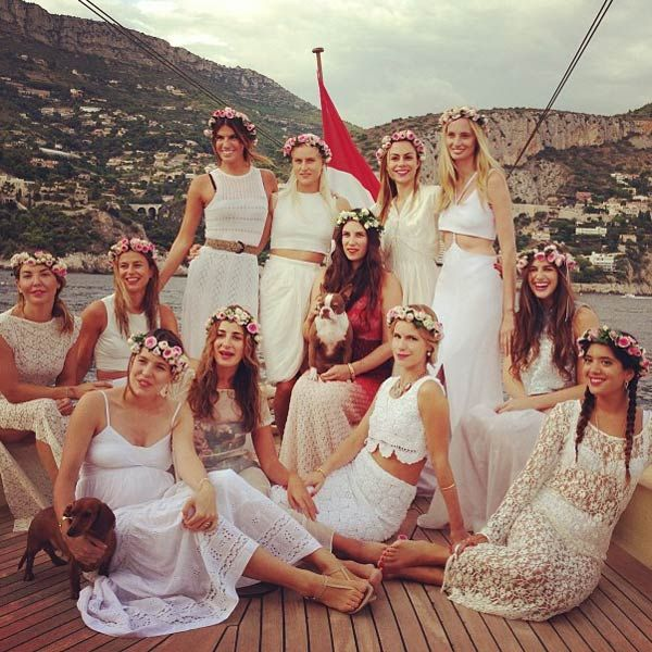 A total of 350 guests have been invited to the civil wedding ceremony of Andrea Casiraghi and Tatiana Santo Domingo Aug 31 at the Prince's Palace. The second in line to succeed Prince Albert, Andrea reportedly wanted an informal and festive wedding, away from the prying eyes of the paparazzi… The bride took her bridesmaids on a tour around the waters of the Principality