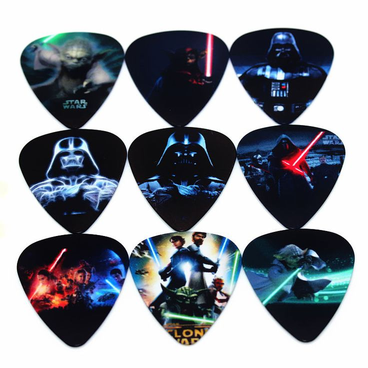 SOACH hot PICKS fashion10pcs Newest Star Wars electric guitar Picks Thickness 1.0mm Musical instrument accessories