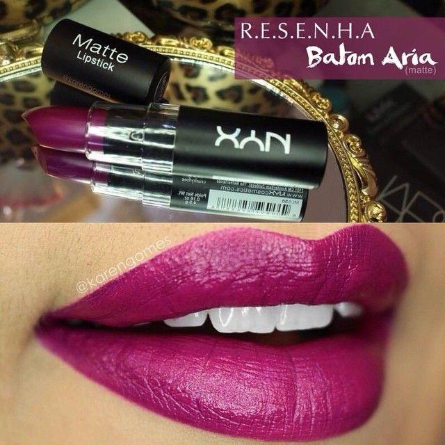 Aria (matte) lipstick by Nyx @nyxcosmetics
