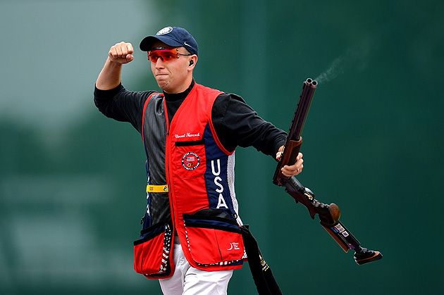 In the last three days of the London Olympics, American shooters broke Summer Games records in winning gold.