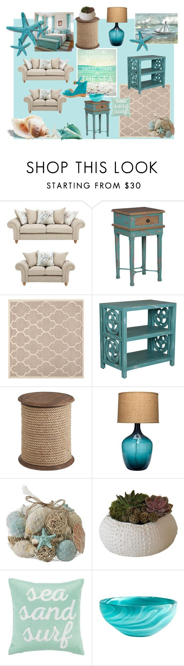 sea#home#decor#tiffany# by veronicavarani on Polyvore featuring interior, interiors, interior design, Casa, home decor, interior decorating, Pier 1 Imports, Jamie Young, Safavieh and Cyan Design