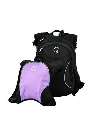 58% OFF O3 Munich Backpack with Detachable Lunch Cooler (Black/Purple)