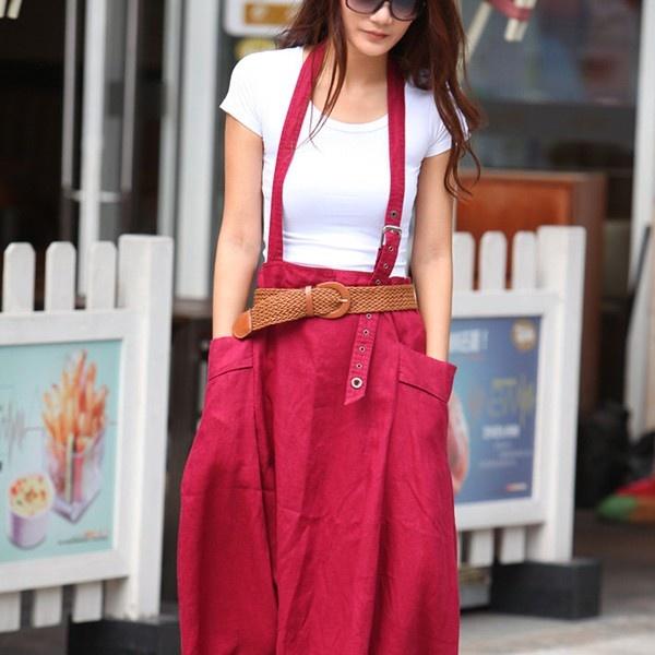 Big Pockets Long Skirt from Picsity.com
